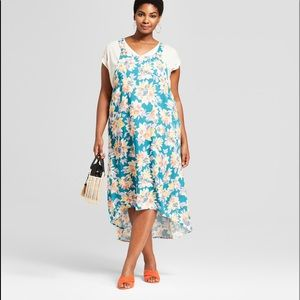 Ava & Viv Teal Floral Dress